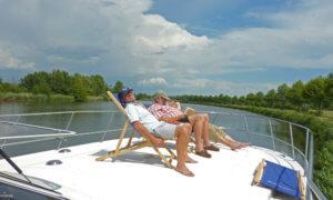 Entspannung auf dem Hausboot