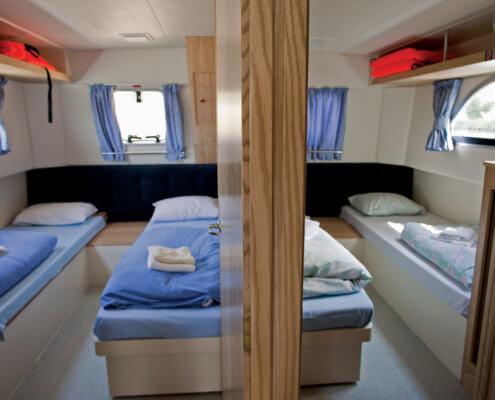 Hausboot mieten Calypso, Schlafkabinen