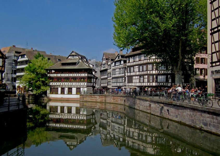 Hausboot Elsass Strassburg
