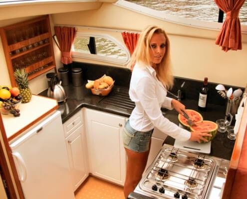 Hausboot mieten Europa 600, Küche