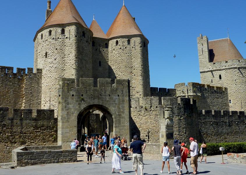 Hausboot mieten Canal du Midi Altstadt von Carcassonne