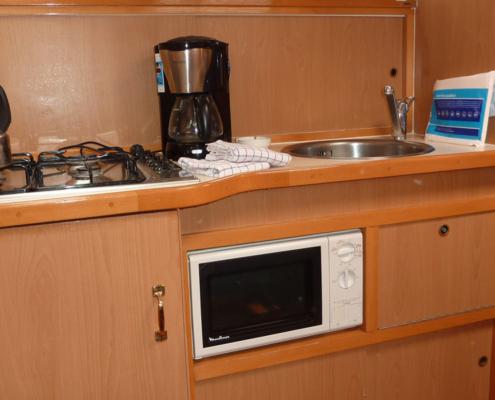 Hausboot Goldflower Elite Küche