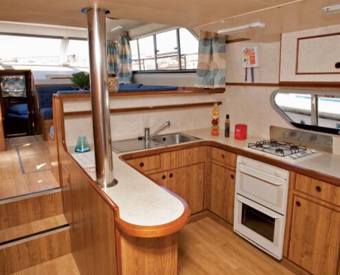 Hausboot mieten Grand Classique Küche