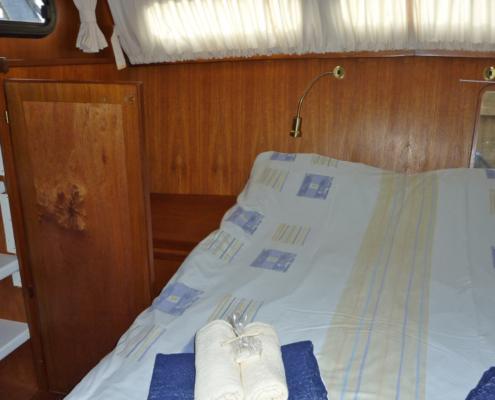 Hausboot Iris in Holland Schlafkabine
