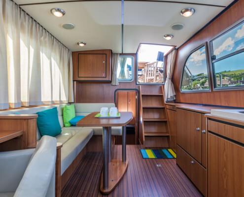 Hausboot Linssen 34.9 Wohnraum
