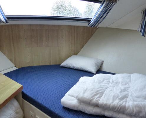 Hausboot mieten Magnifique, Schlafkabine im Bug