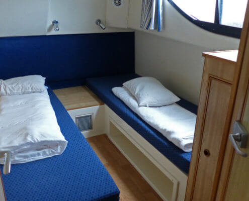 Hausboot mieten Magnifique Schlafkabine im Heck