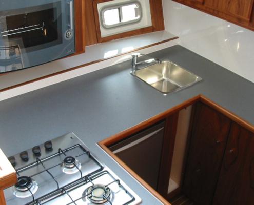Hausboot Maurice Elite Küche