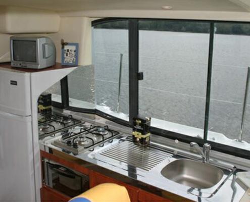 Hausboot Nicols Duo Küchenzeile