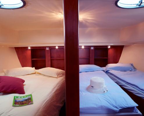 Hausboot Nicols Octo Schlafkabinen
