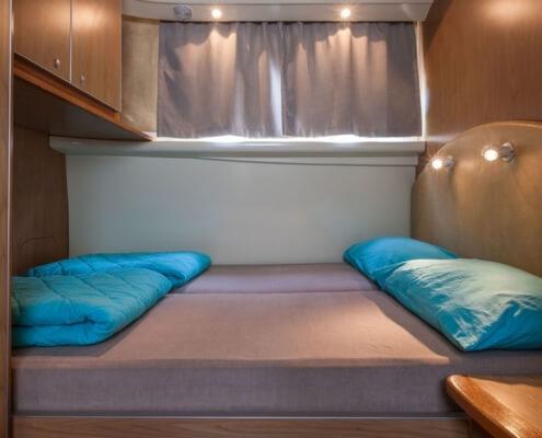 Hausboot Penichette 1020 FB Schlafkabine im Heck