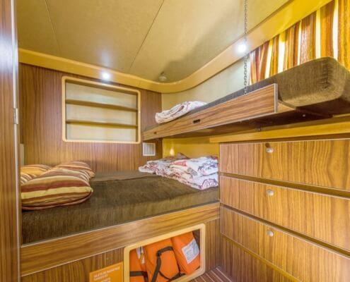 Hausboot Penichette 1400 FB Kabine mit Doppelbett