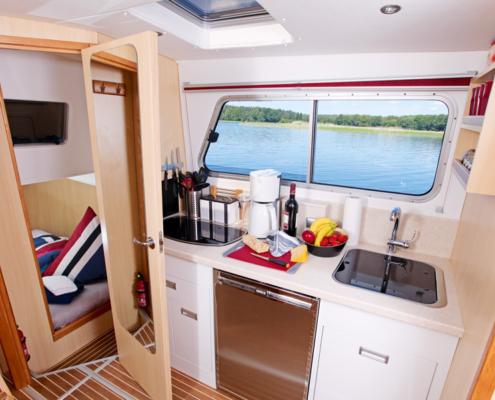 Hausboot Rivrboat 1122 Küchenzeile