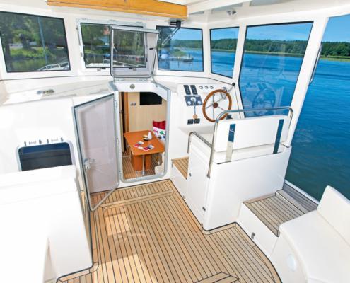 Hausboot Riverboat 1122 Aussendeck
