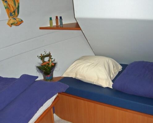 Hausboot Tarpon 32 Schlafkabine