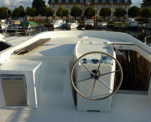 Hausboot Tarpon 49 QP Aussensteuer