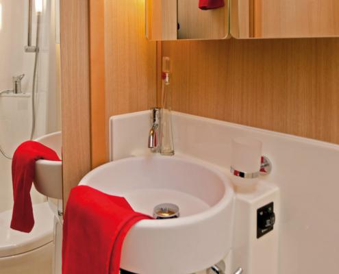 Hausboot Vision Badezimmer