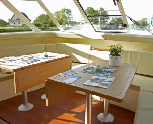 Hausboot Vision Wohnbereich