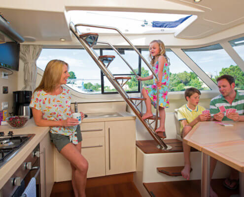 Hausboot Vision SL Wohnbereich