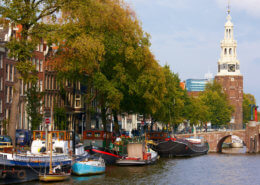 Hausboot Holland durch Amsterdam
