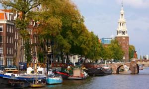 Hausboot Holland durch Amsterdam