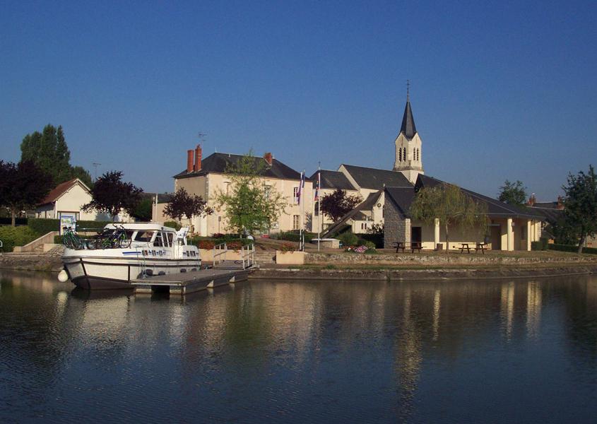 Hausboot Hafen Belleville-sur-Loire