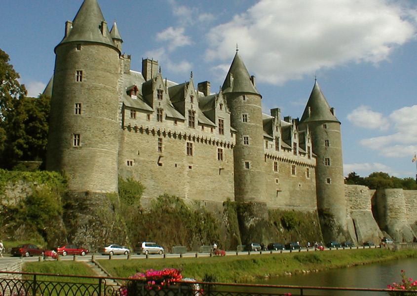 Hausbotfahren Bretagne Schloss Josselin