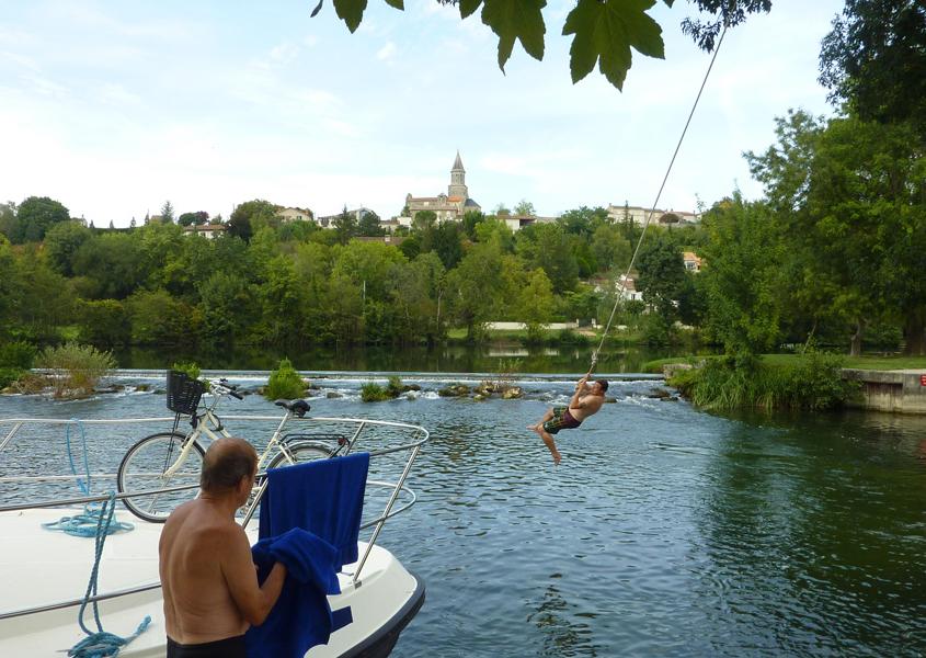 Hausboot Charente Badestelle St.Simeux