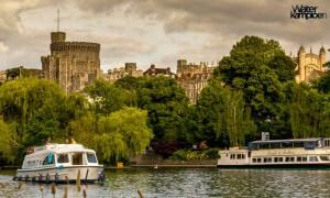 Hausboot mieten England Bootsferien auf der Themse Schloss Windsor