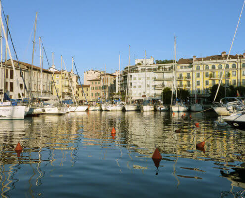 Hafen von Grado Hausboot Venedig Italien