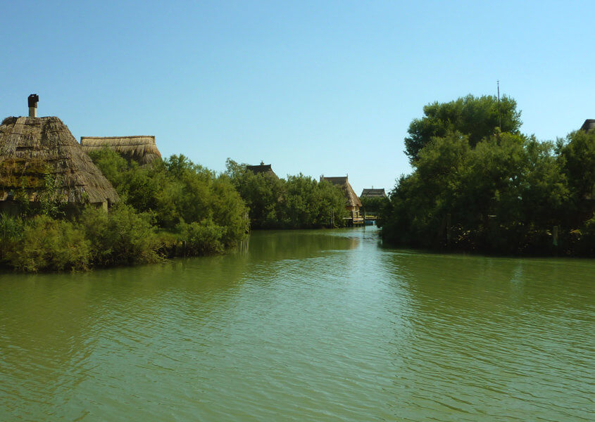 Hausboot fahren in der Lagune Grado Marano Casoni