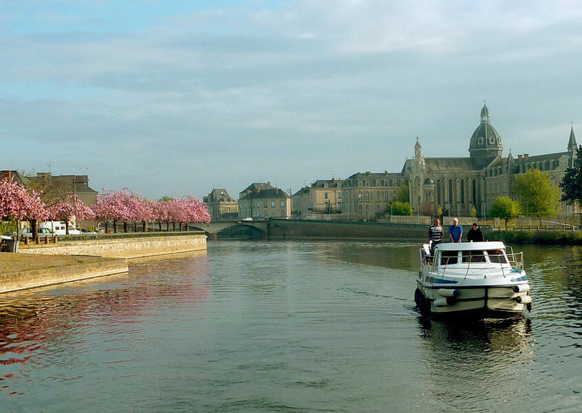 Hausboot fahren Mayenne, Chateau Gontier