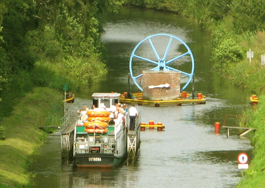 Bootsferien Polen Oberlandkanal Schiffshebewerk Elblag