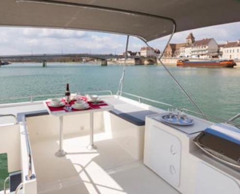 Hausboot Horizon Aussenbereich