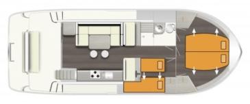 Hausboot Horizon 1 Grundriss