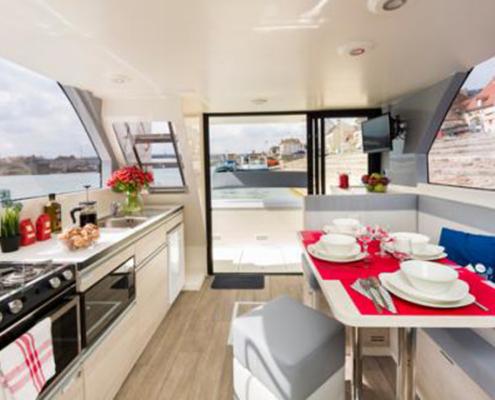 Wohnküche Hausboot Horizon
