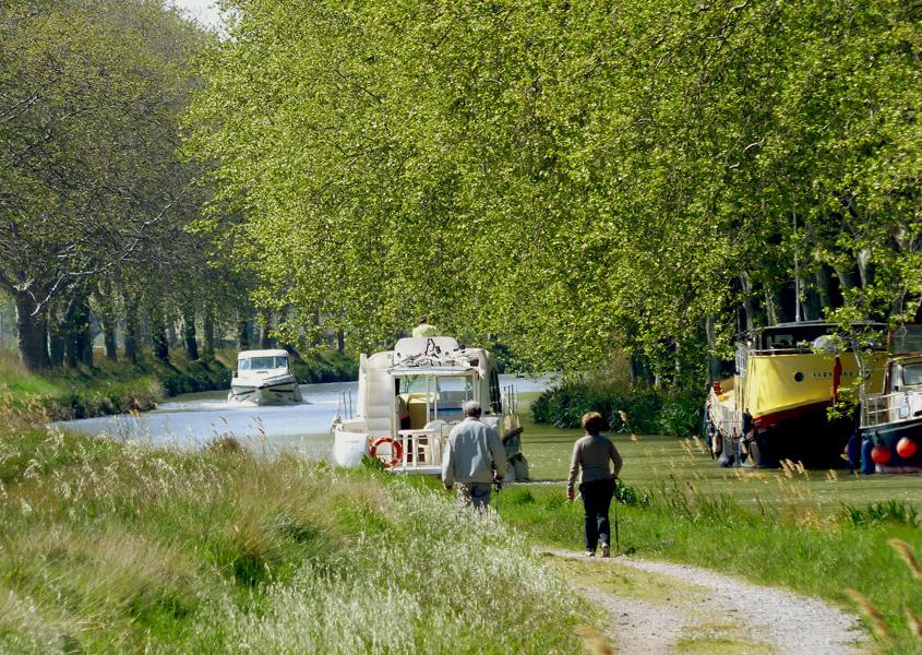 Hausboote am Canal du Midi