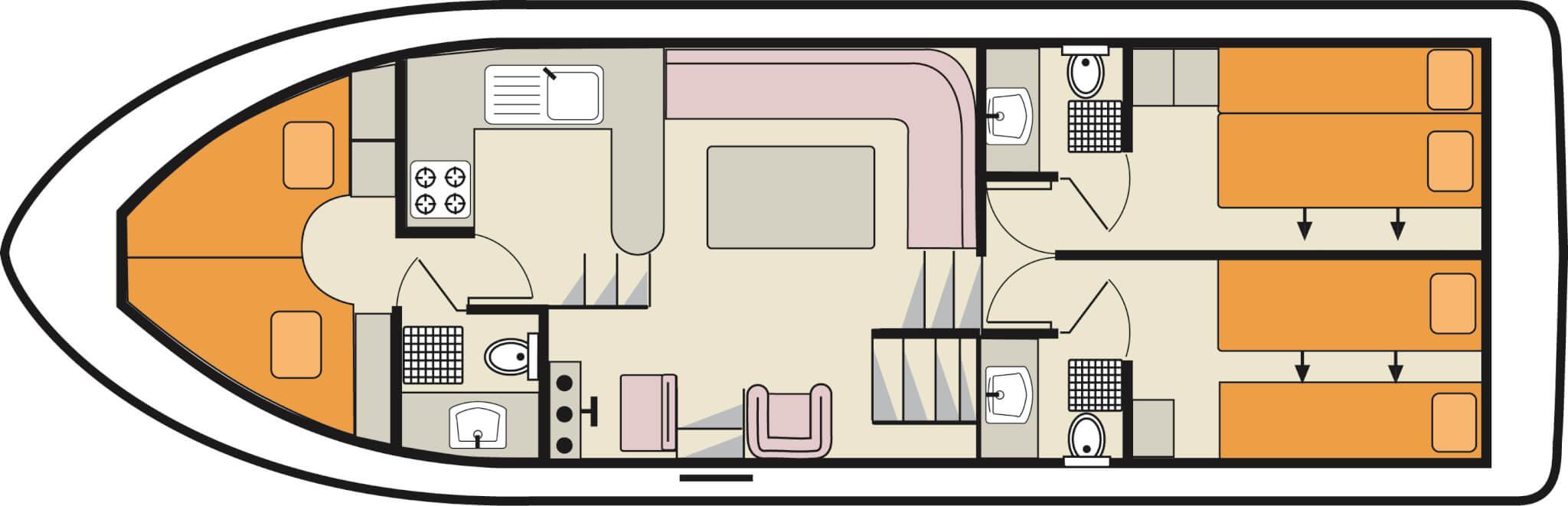 Hausboot Crsader für 6 Personen