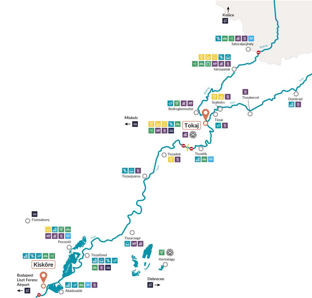 Hausboot Revier Ungarn Landkarte