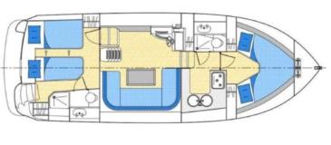 Hausboot Europa 300 Grundriss
