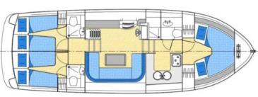 Hausboot Grundriss Europa 500