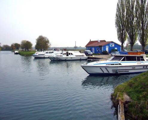 Hausboote in Boofzheim Elsass
