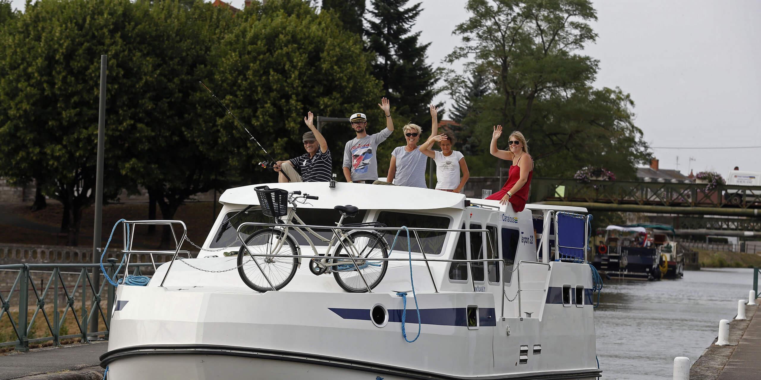 Hausboot mieten in Frankreich