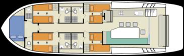 Hausboot Horizon 5 Grundriss
