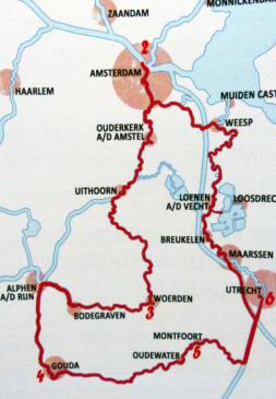 Hausboot Rundkurs Holland Landkarte