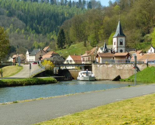 Hausboot in Lutzelburg Hausbooturlaub Elsass Lothringen