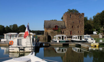 Hausboot Hafen Chenille Change an der Mayenne