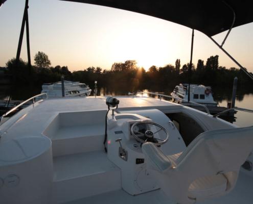 Hausboot Minuetto Außenbereich