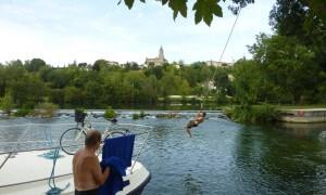 Hausboot Charente Badestelle