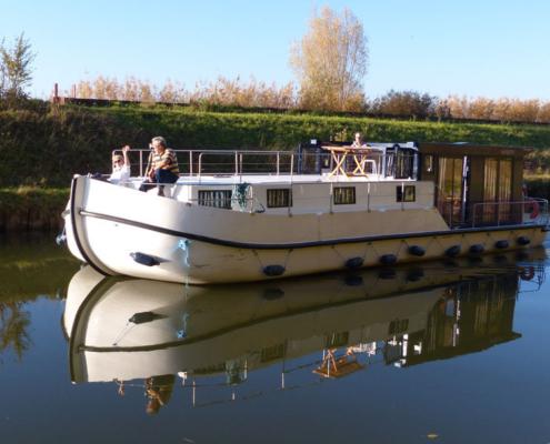 Hausboot La Peniche P mit 2 Kabinen